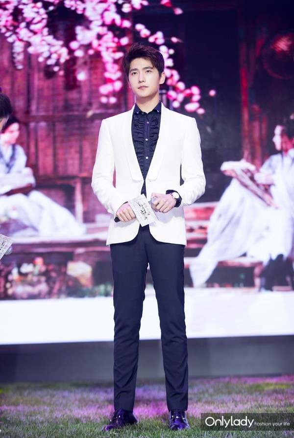Actor Yang Yang wearing  Burberry Tailoring at the Press Conference of TV Drama 'Once Upon A Time'  in Beijing  July 2nd , 2017