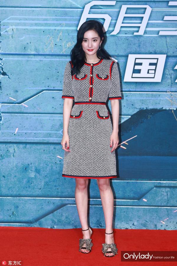 2017年6月25日,北京,电影《逆时营救》首映礼。杨幂