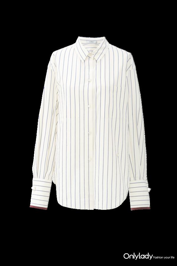 XNCAC2102aW白色竖条纹衬衫 CNY 1398