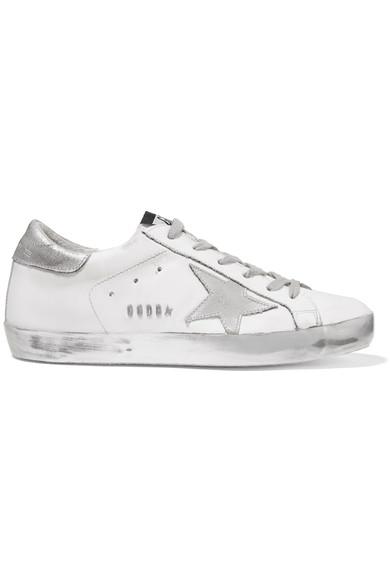 Golden Goose Deluxe Brand Super Star 仿旧皮革运动鞋