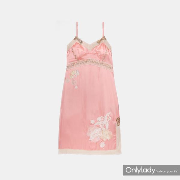 COACH EMPIRE装饰吊带裙