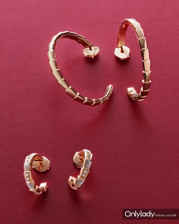 宝格丽全新Serpenti Viper系列环形耳环