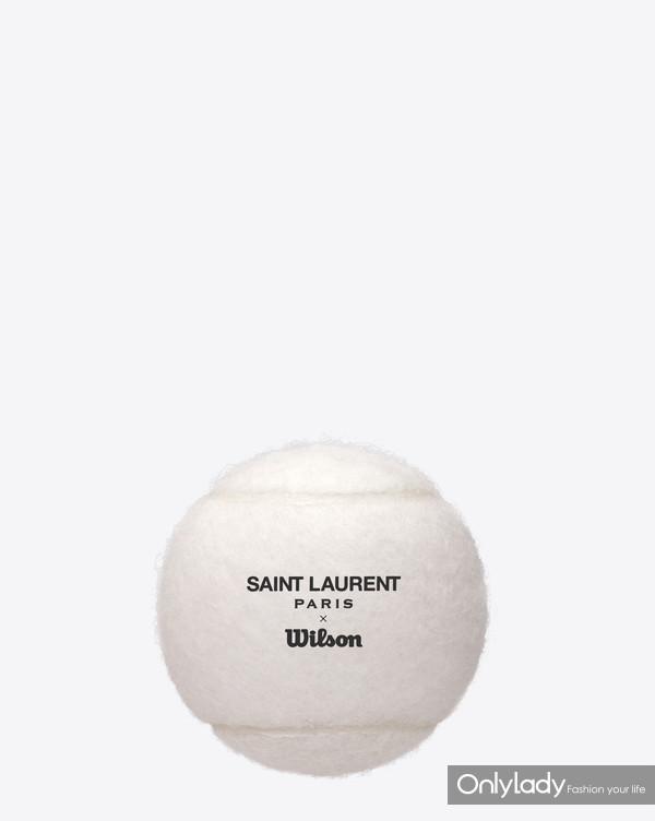 SAINT LAURENT RIVE DROITE COLLABORATION SET OF TENNIS BALL BY WILSON