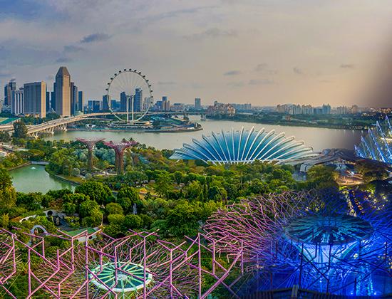 """春暖花开的日子里,跟着新加坡滨海湾花园一起 """".."""