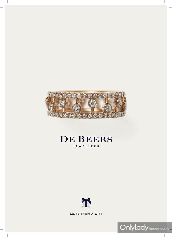 De Beers戴比尔斯Dewdrop玫瑰金戒指