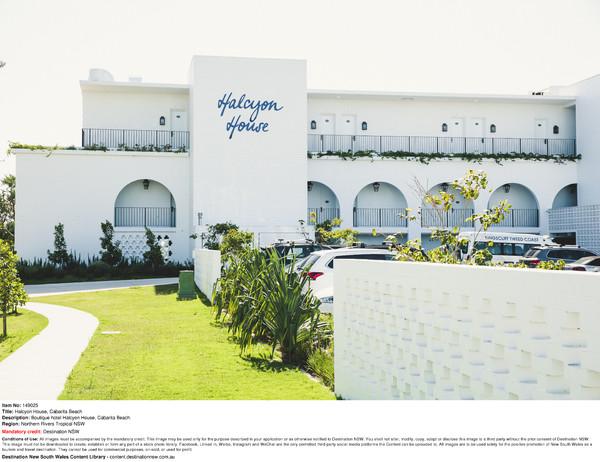 Boutique hotel Halcyon House, Cabarita Beach.