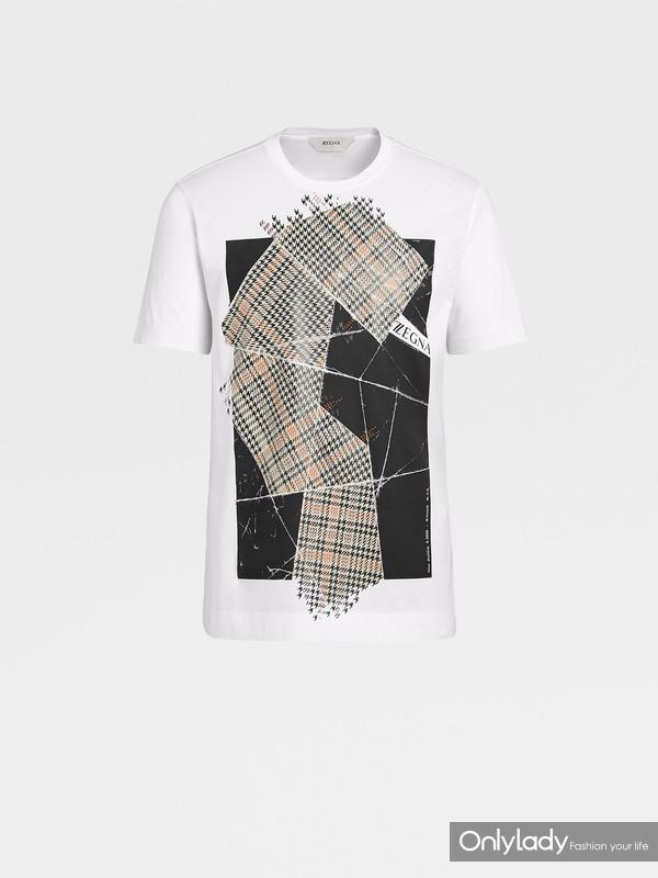 Z ZEGNA 2020夏季New Archive系列白色棉质T恤