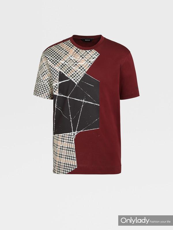 Z ZEGNA 2020夏季New Archive系列砖红色棉质T恤