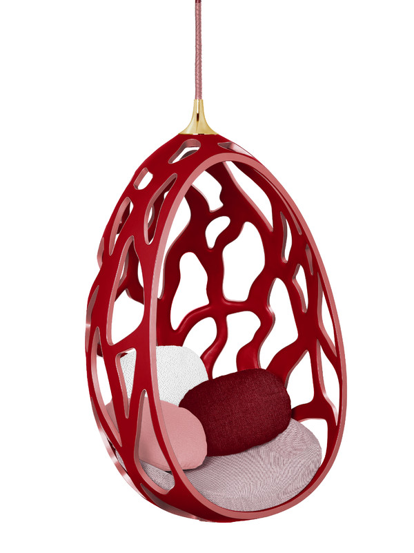 Cocoon in leather by the Campana Brothers