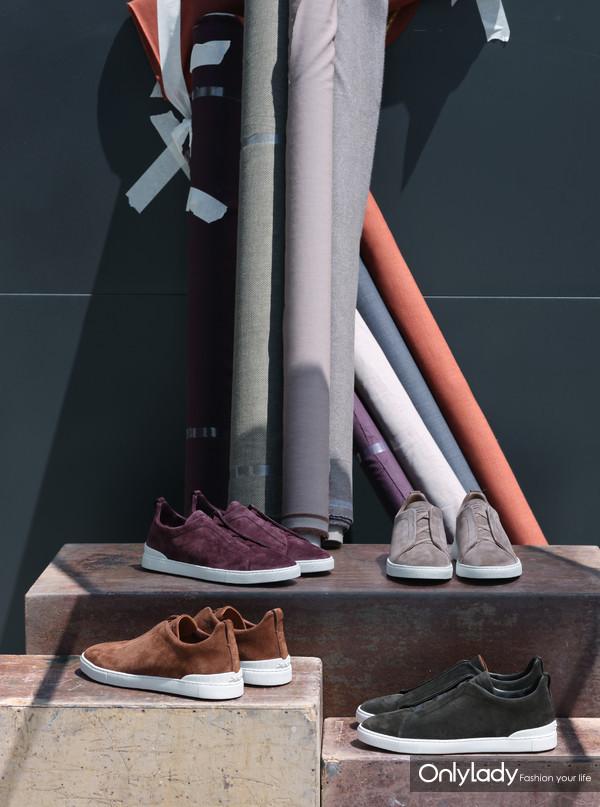Ermenegildo Zegna 2020冬季系列Triple Stitch球鞋 (2)