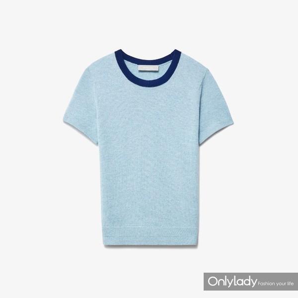 羊绒毛衣短袖T恤