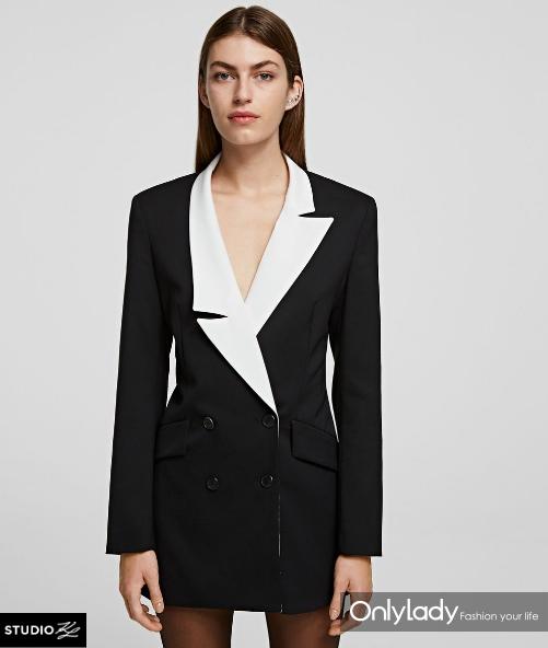 黑白西装外套