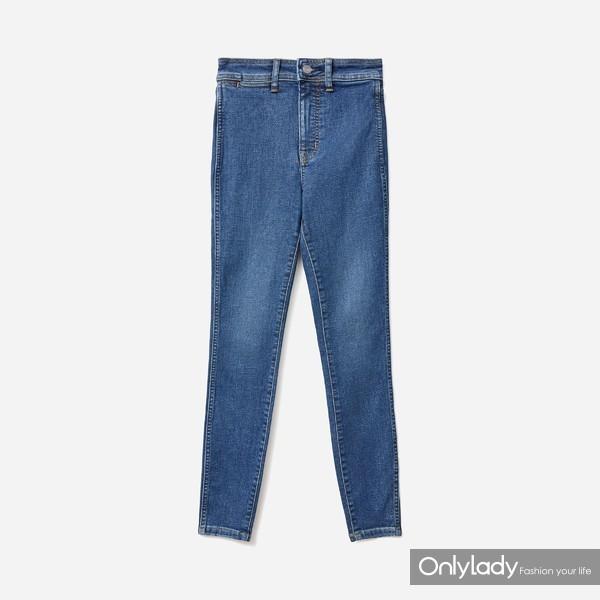 Way-High高腰紧身牛仔裤