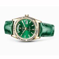 劳力士星期日历型绿色黄金腕表
