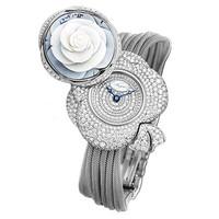 宝玑2014新品浮雕花卉珠宝腕表