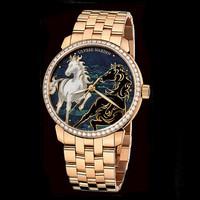 雅典Classico鎏金珐琅腕表