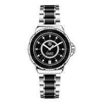 豪雅F1女士系列精钢陶瓷钻石自动腕表