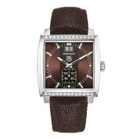 豪雅摩纳哥女士系列大日历镶钻腕表