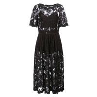 欧时力2014新品镂空蕾丝短袖连衣裙