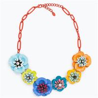 Zara 女士多色花朵项链