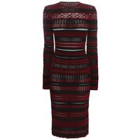 Alexander McQueen 条纹针织连衣裙