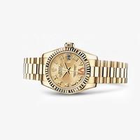 劳力士Rolex 女装日志型黄金腕表