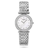浪琴 嘉岚系列白色珍珠母贝钻石腕表