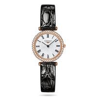 浪琴 白色珍珠母贝18K玫瑰金钻石腕表
