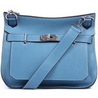 爱马仕(Hermès)蓝色皮质单肩包