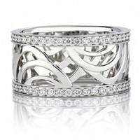 戴比尔斯 镶钻圆形戒指