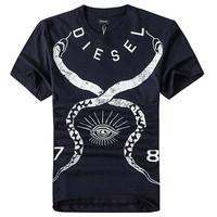 Diesel 男士短袖印花T恤