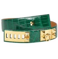 爱马仕(Hermès)CDC鳄鱼祖母绿CC腰带