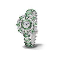 宝格丽Bvlgari 祖母绿18K白金腕表