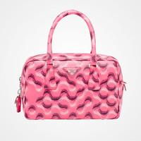 普拉达Prada 微型印花 Saffiano 皮革手提包