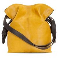 罗意威Loewe 芥末黄抽绳女士包袋