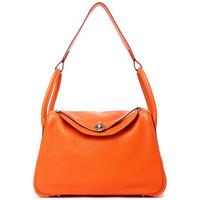 爱马仕(Hermès)93橘色皮质手提包lindy30