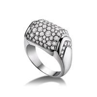 宝格丽Bvlgari MVSA18K白金钻石戒指