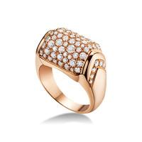 宝格丽Bvlgari MVSA18K玫瑰金钻石戒指