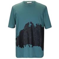 巴黎世家 男士胶印印花短袖T恤