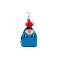 芬迪Fendi 皇家蓝色尼龙BAG BUGS背包外形吊饰