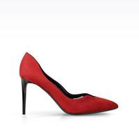 阿玛尼 红色麂皮高跟鞋