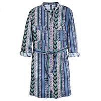 H&M 梭织面料衬衫连衣短裙