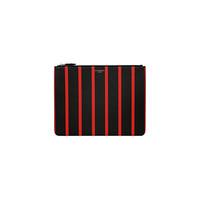纪梵希Givenchy 红色条纹大号拉链手拿袋