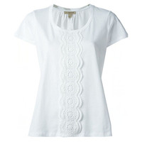 博柏利Burberry 白色刺绣全棉T恤