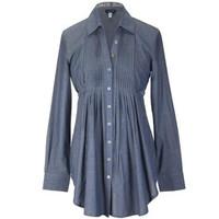 阿玛尼GIORGIO ARMANI 女士全棉长袖衬衫