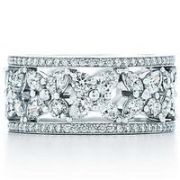 蒂芙尼Tiffany 花簇结婚戒指