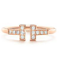 蒂芙尼Tiffany 线形戒指