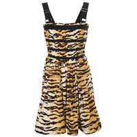 杜嘉班纳 动物纹短款连衣裙