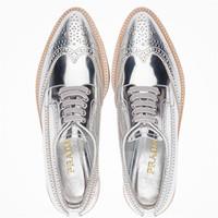 普拉达Prada 磨砂皮系带Derby鞋