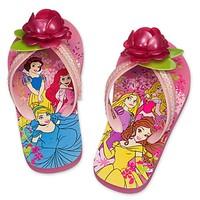 迪士尼 公主人字拖for儿童款